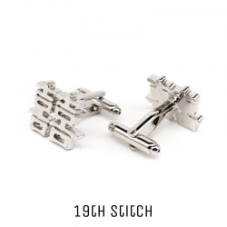 Happiness Silver Plated Cufflink