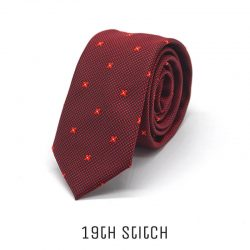 Red Foulard with Red Flower & Black Line