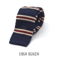 Flat Knitted with White Red White Stripe