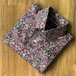 Maroon Floral Print Cotton Custom Shirt