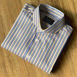 Yellow Blue Multi Stripe Custom Shirt